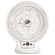 Eco-Smart Table Fan, 2-Speed, White