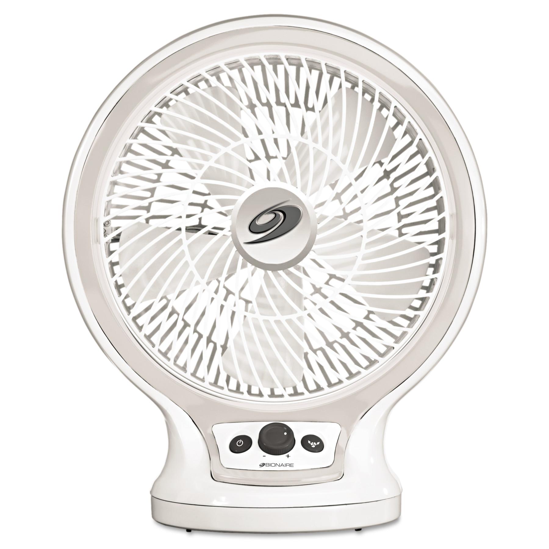 Bionaire Eco-Smart Table Fan, 2-Speed, White