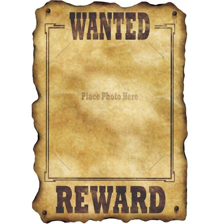 Club Pack of 12 Country Western Themed Wanted Sign Cutout Decorations - Western Decorations