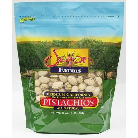 Setton Farms Pistachios, Dry Roasted with Sea Salt, 16 Oz