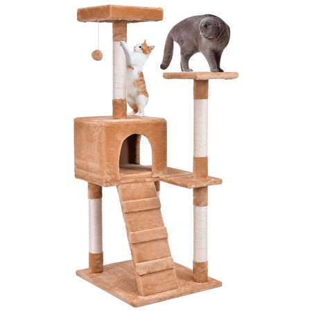gymax 52 39 39 cat tree tower condo furniture scratching post. Black Bedroom Furniture Sets. Home Design Ideas