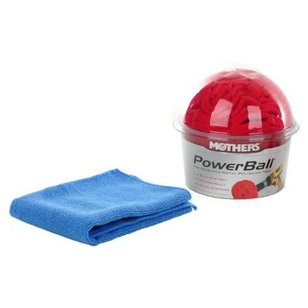 Mothers Power Ball Polishing Tool + Bonus Microfiber Polishing Towel