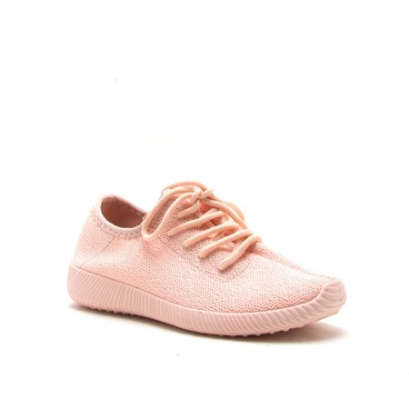 Qupid Nacara 01 Pink Monochromatic Sneaker