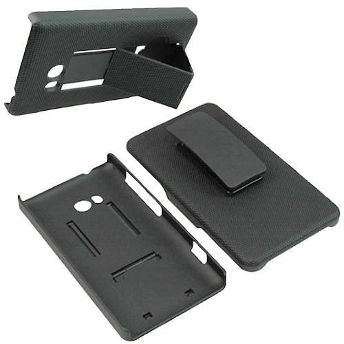 T-Mobile OEM Hard Cover Combo Case Holster for T-Mobile Nokia Lumia 810 -Black