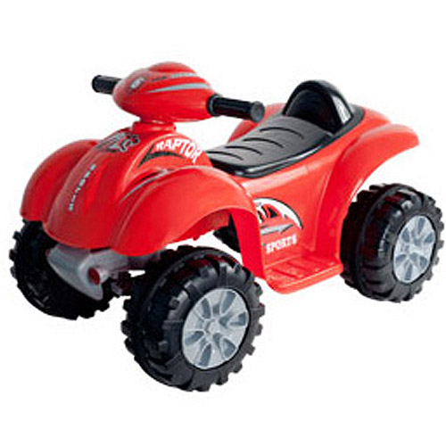 Lil' Rider Red Raptor 6-Volt Battery-Powered 4-Wheeler Ride-On
