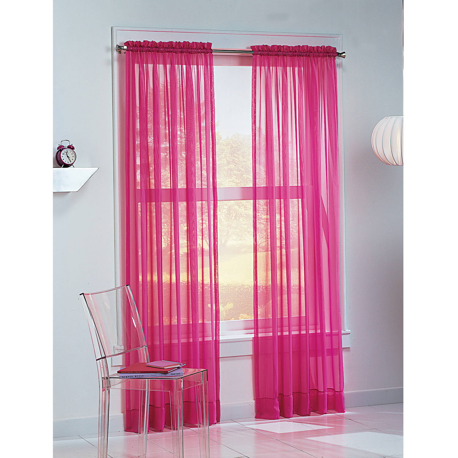 918 Calypso Sheer Voile Rod Pocket Curtain Panel