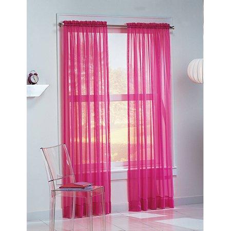 No. 918 Calypso Sheer Voile Rod Pocket Curtain Panel - Walmart.com