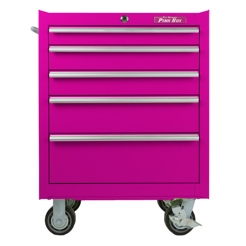 The Original Pink Box 5 Drawer Roll Away Cabinet