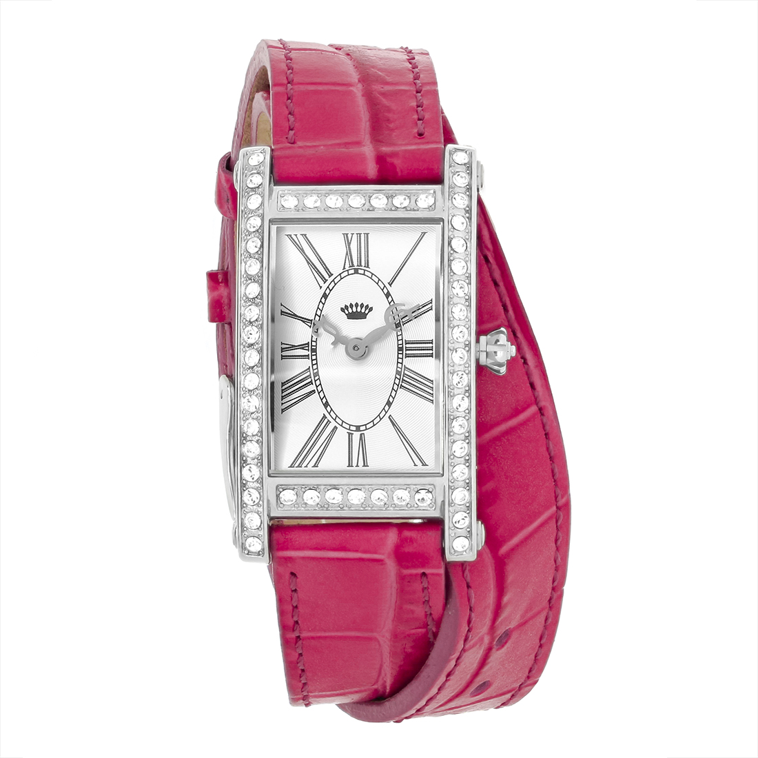 Juicy Couture Royal Ladies Crystal Hot Pink Double Wrap L...