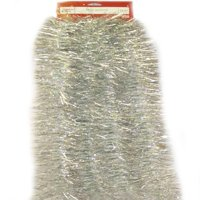 Holiday Time Tinsel Garland, Metallic Opal