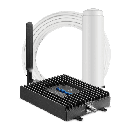 SureCall Fusion4Home Omni/Whip Voice, Text & 4G LTE Cell Phone Signal Booster for Homes up to 2,000 sq ft (Signal Whip)
