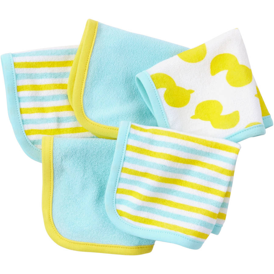 Child of Mine by Carter's Newborn Baby Washcloths, 5 Pack