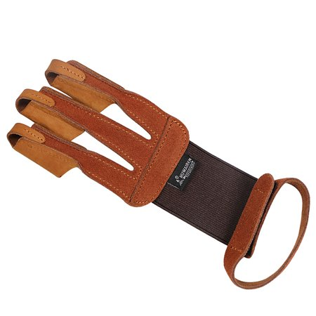 1PCS Archery Protector 3 Finger Tab Glove with Wrist Strap Protect Guard Archery Accessories - image 1 de 7