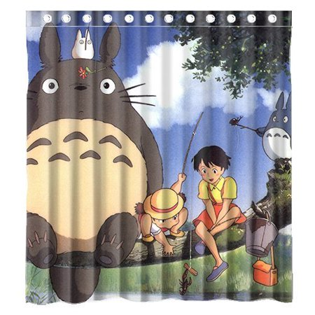 DEYOU Anime My Neighbour Totoro Shower Curtain Polyester Fabric Bathroom Size 66x72 Inches