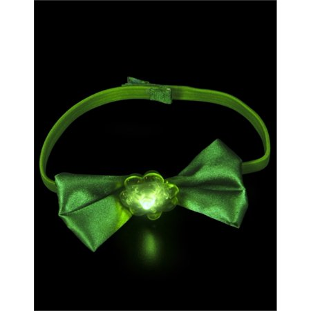 St. Patrick's Day Costume Accessory Green Flashing LED Bow Tie - St Patrick Day Costumes