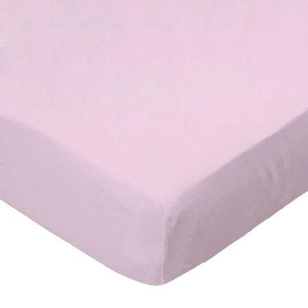 SheetWorld 100 Cotton Percale Crib Sheet Set 28 x 52 Baby Pink Woven I