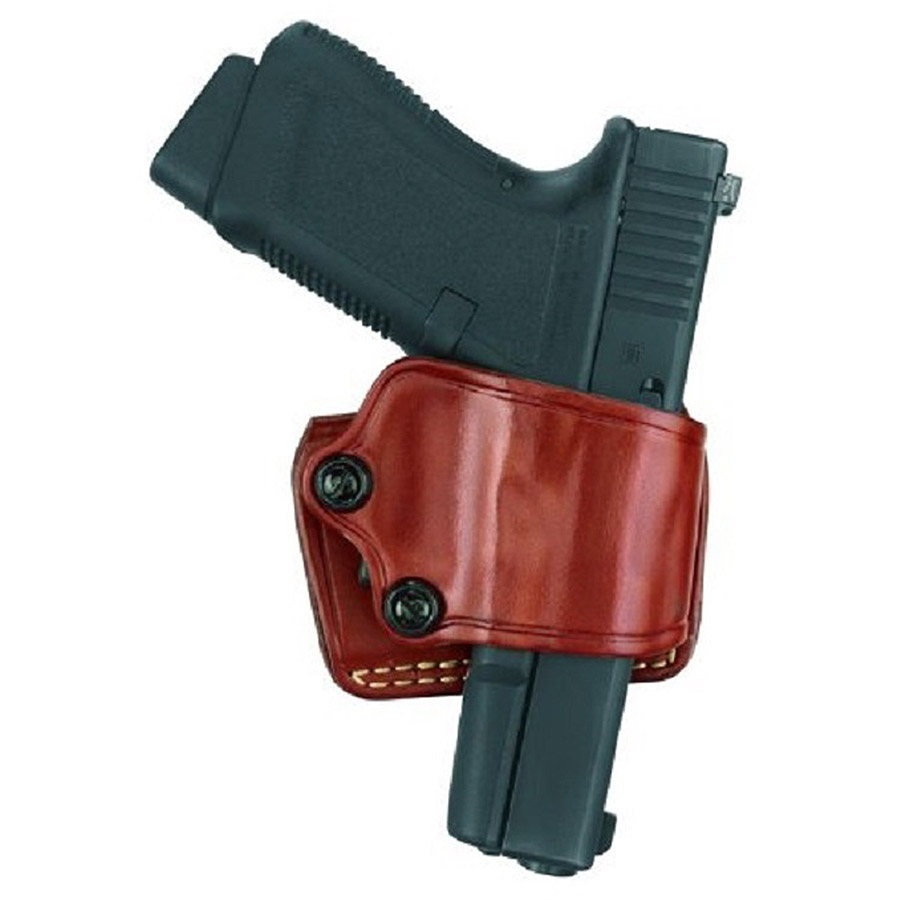 Gould and Goodrich 801-92FLH Gold Line Yaqui Slide Holster, Left-Hand, Chestnut Brown
