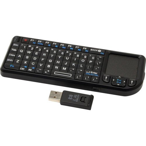 VVisionTek Candyboard Wireless Mini Keyboard with Touchpad and Built-In IR Remote (900507)