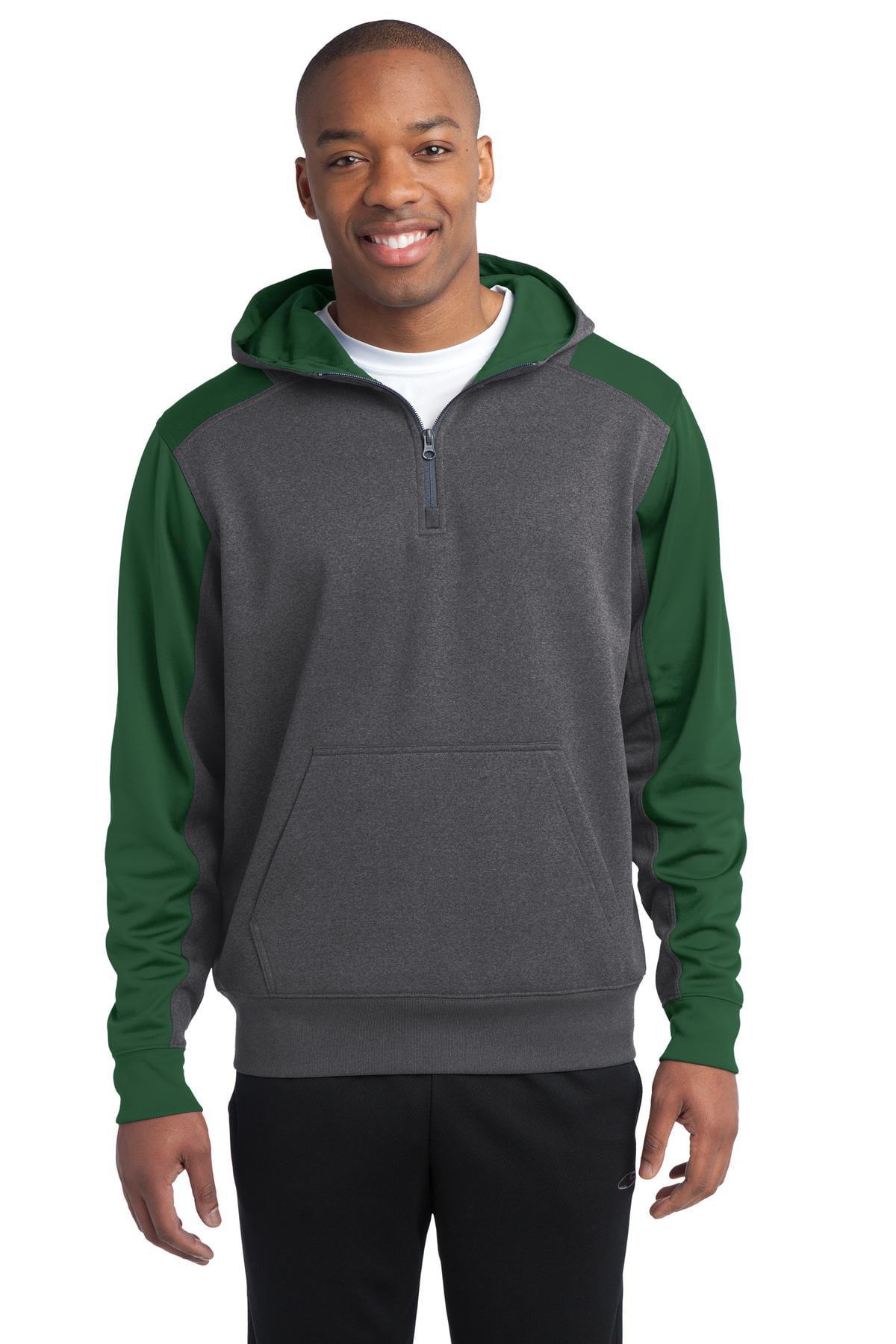 e39ec343afd Sport-Tek® Tech Fleece Colorblock 1 4-Zip Hooded Sweatshirt. St249 ...