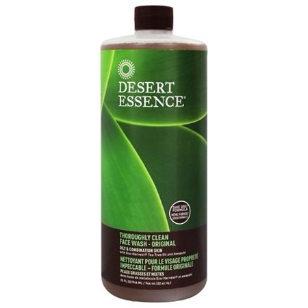 Thoroughly Clean Face Wash with Tea Tree Oil and Awaphuhi - 32 fl. oz. by Desert Essence (pack of
