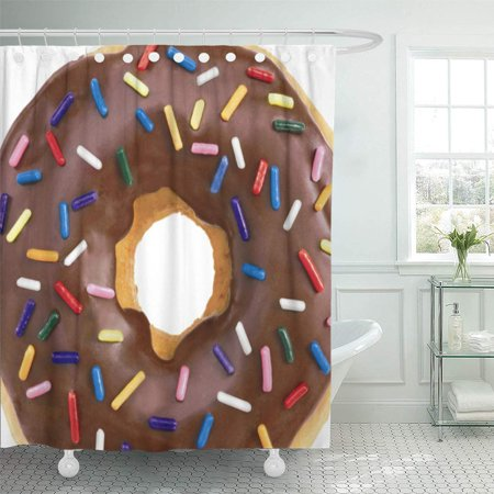 ATABIE Food Donut Gel Tech Office Shower Curtain 66x72 inch