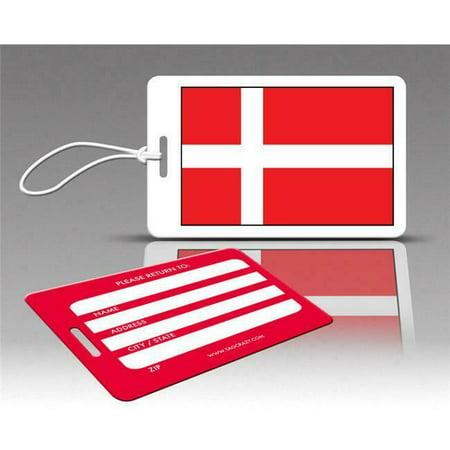 Insight Design 770540 TagCrazy Luggage Tags- Denmark Flag- Set of Three