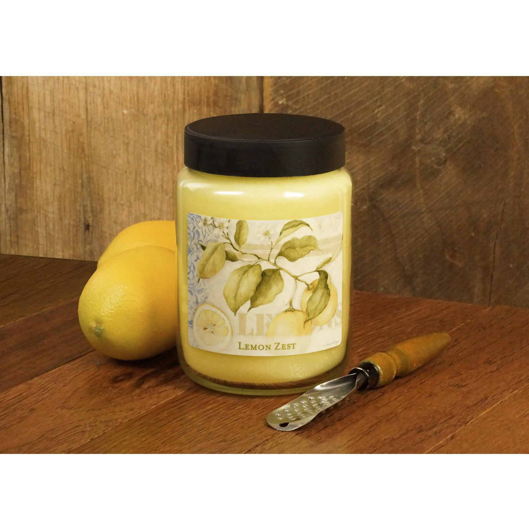 LANG Lemon Zest 26-Ounce Jar Candle, Scented with a Nice Blend of Lemon Zest, Vanilla and Sugar