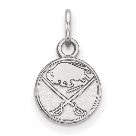 Buffalo Sabres Extra Small (3/8 Inch) Pendant (10k White Gold)