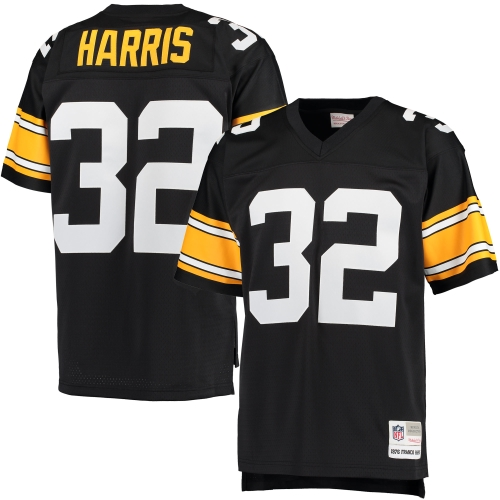 Franco Harris Pittsburgh Steelers Mitchell & Ness Retired Player Replica Jersey - Black