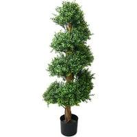 "Pure Garden 48"" Boxwood Spiral Tree, Green"