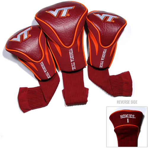 Team Golf NCAA Virginia Tech 3 Pack Contour Head Covers