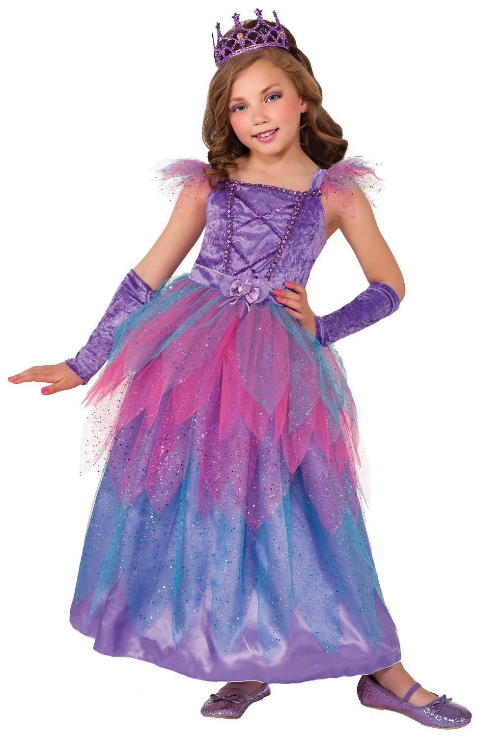 Pixie Princess Fairy Purple Fancy Dress Up Halloween Deluxe Child Costume Gown by Forum Novelties