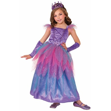 Pixie Princess Fairy Purple Fancy Dress Up Halloween Deluxe Child Costume Gown - Cheap Kids Fancy Dress Costumes