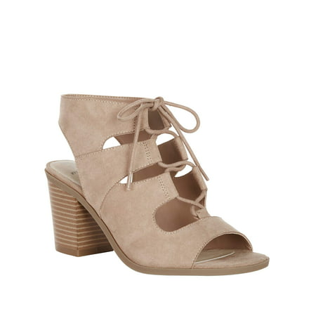 Women's Time and Tru Wide Width Peep Toe Bootie