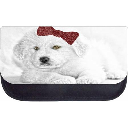 Black And White Dog Zipper (White Puppy Dog  - 5
