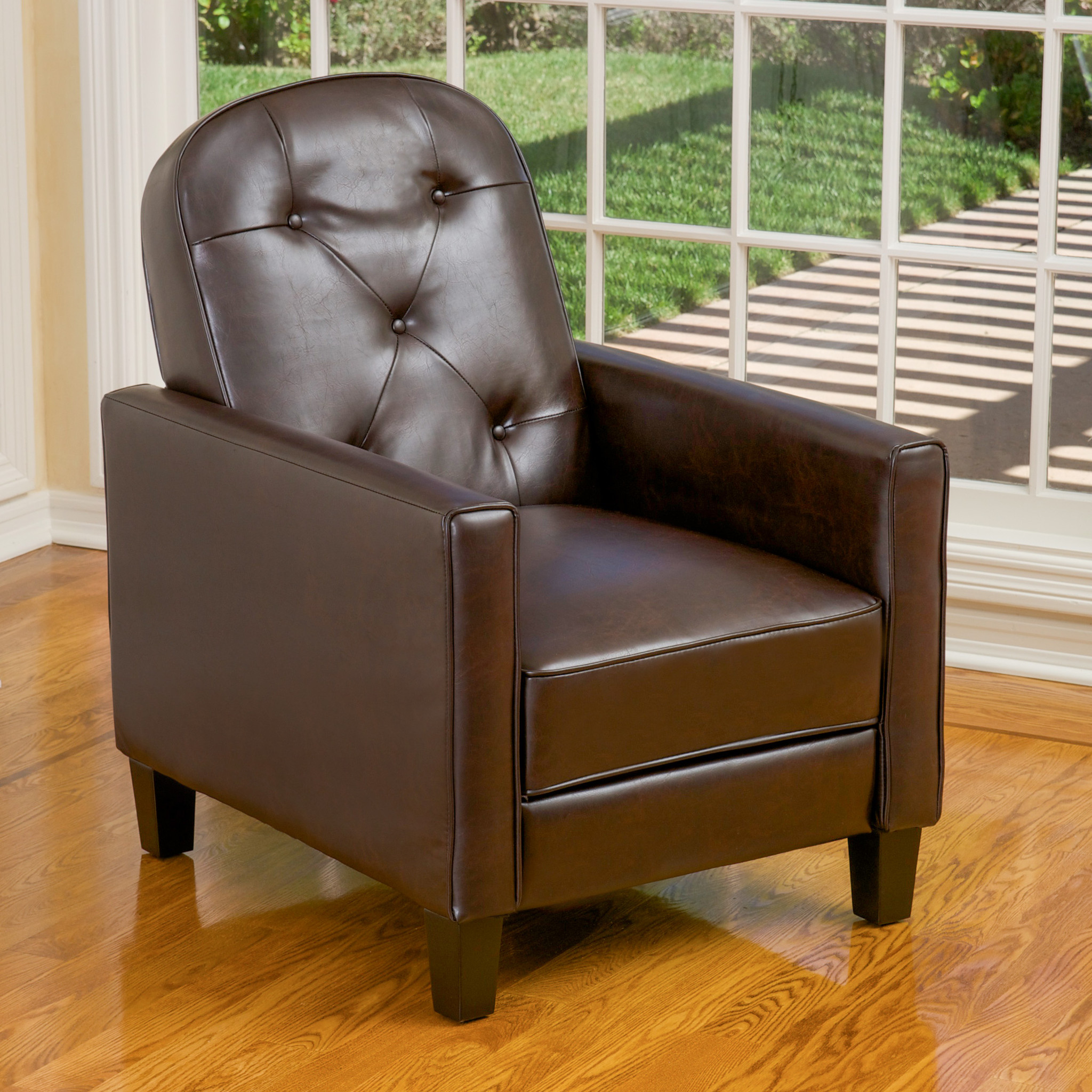 Empire Brown Leather Recliner