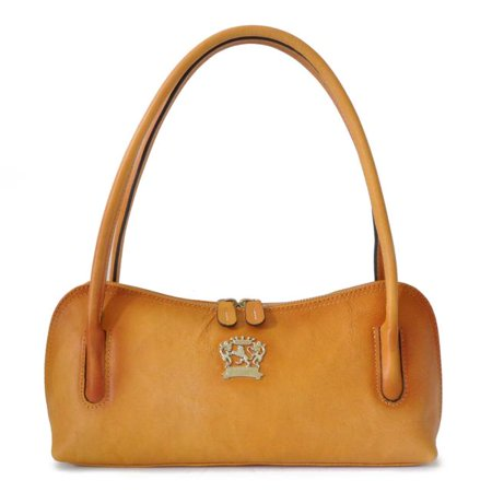 Pratesi Womens Italian Leather Sansepolcro Small Shoulder Handbag Purse in Cow Leather But I Italian Handbag