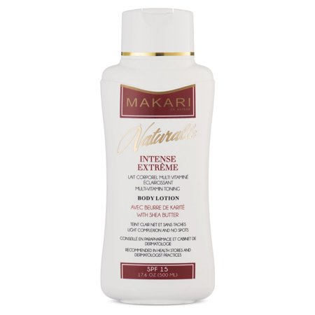 Makari Naturalle Intense Extreme Body Lotion 17.6oz – Lightening, Toning & Moisturizing Body Cream With Shea Butter & SPF 15 – Anti-Aging & Whitening Treatment for Dark Spots, Acne