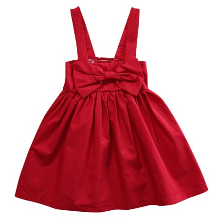 Kids Baby Girl Big Bowknot Sleeveless Party Tutu Princess Dress Summer Spring Clothes
