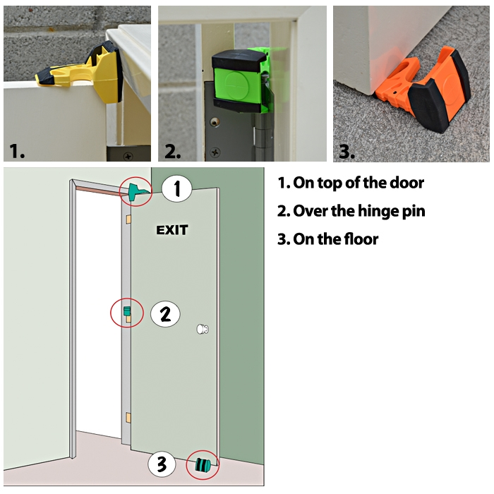 Wedge-It The Ultimate Door Stop - Jaune - image 1 de 3
