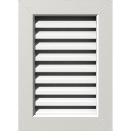 32 W x 16 H Vertical Gable Vent 37 W x 21 H Frame Size Unfinished Functional PVC Gable Vent w 1 x 4 Flat Trim Frame