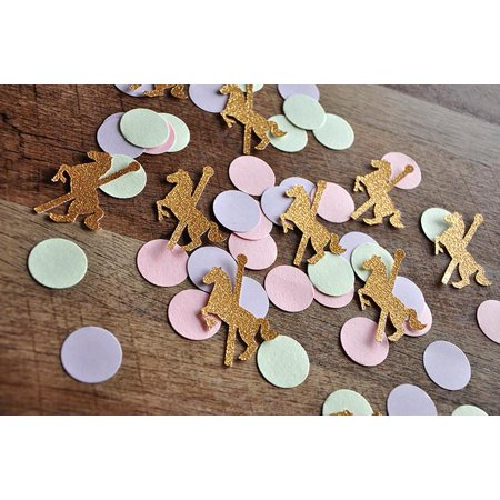 Carousel Horse Prop (Carousel Horse Party Decorations. Ships in 1-3 Business Days. Merry-Go-Round Horse Confetti)