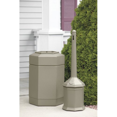 Commercial Zone Smokers' Outpost  Hex 30 Gallon Trash Can