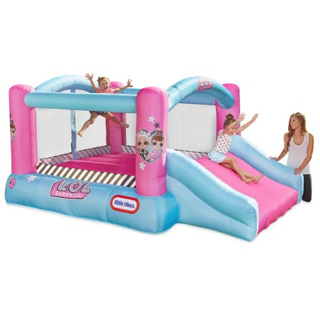 L.O.L. Surprise! Jump 'n Slide Inflatable Bounce House with Blower - Inflatable Bouncy Horse
