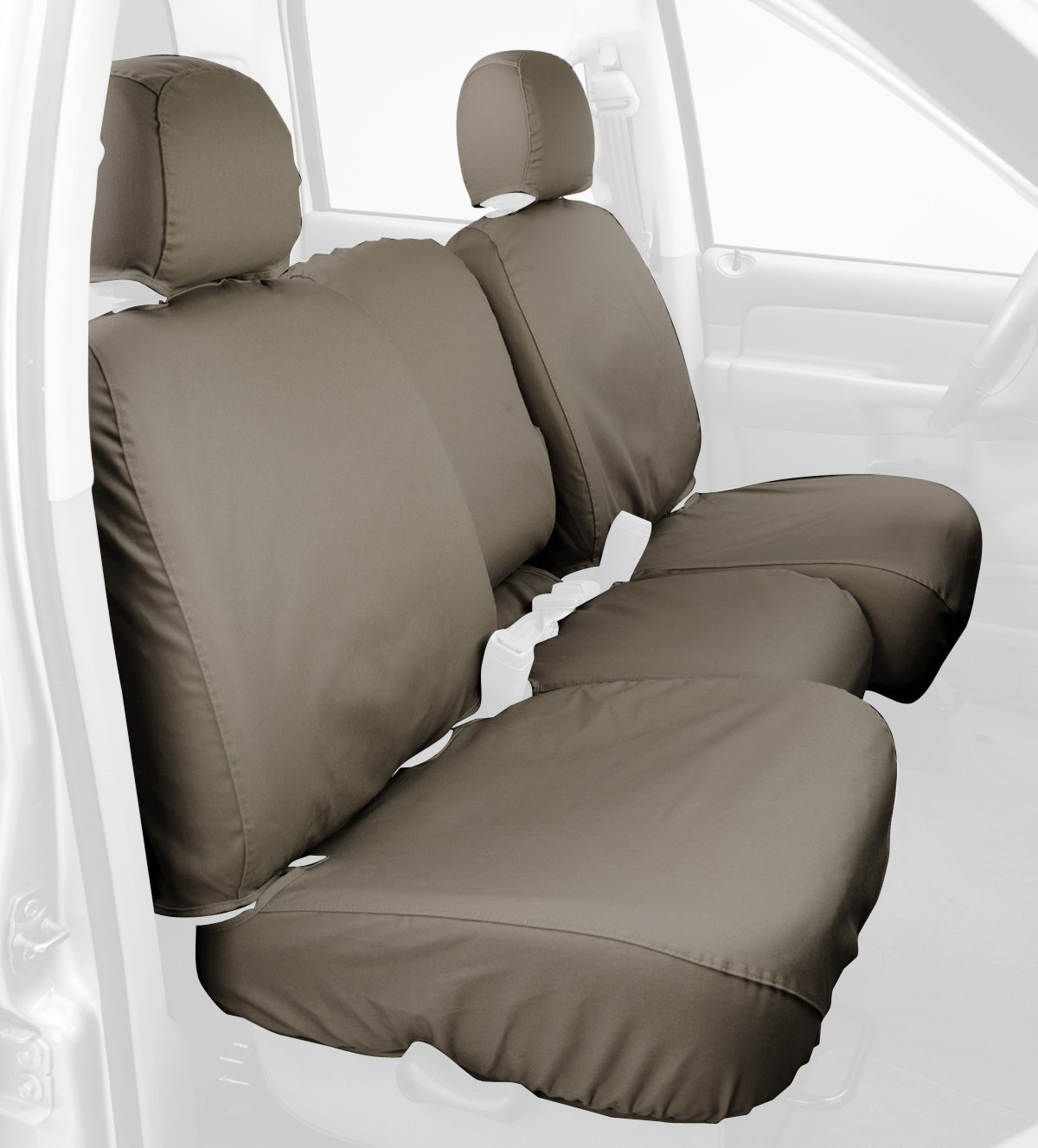 Covercraft Custom-Fit Front Bench SeatSaver Seat Covers - Polycotton Fabric, Sand