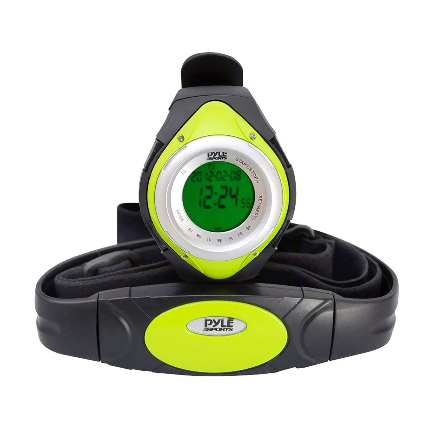 Pyle Heart Rate Monitor Watch W/Minimum, Average Heart Rate, Calorie Counter, and Target Zones(Green Color)