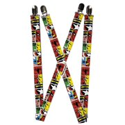 Size one size Men's Elastic Marvel Avengers Character Clip End Suspenders