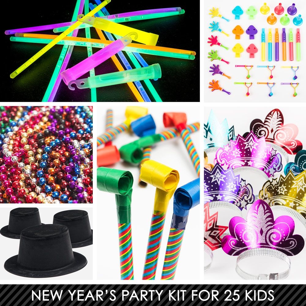 Kid's New Years Kit (For 25 Guests) - New Year Eve Party ...