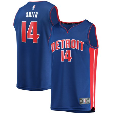 Ish Smith Detroit Pistons Fanatics Branded Youth Fast Break Replica Jersey Blue - Icon Edition
