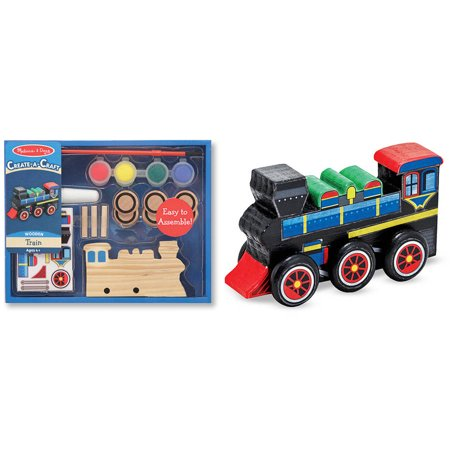Melissa & Doug Decorate-Your-Own Wooden Train Craft Kit - Wooden Halloween Crafts Adults